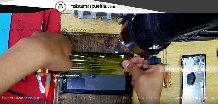 Colocar cinta de poliamida (resistente al calor)