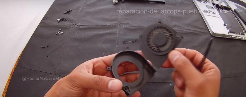 Separar el ventilador de la carcasa