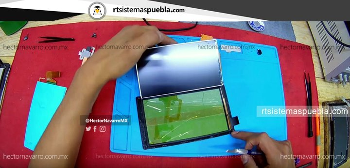 Separar el LCD y touchscreen