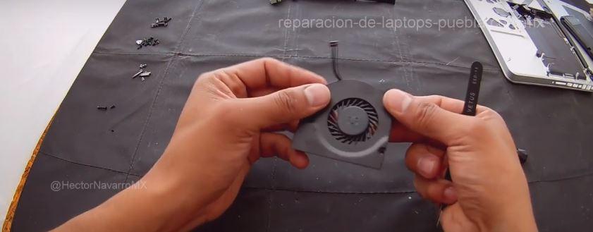 Armar ventilador en el orden inverso