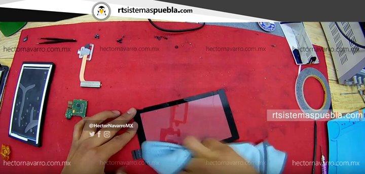 Limpiar el touchscreen de polvo y huellas dactilares