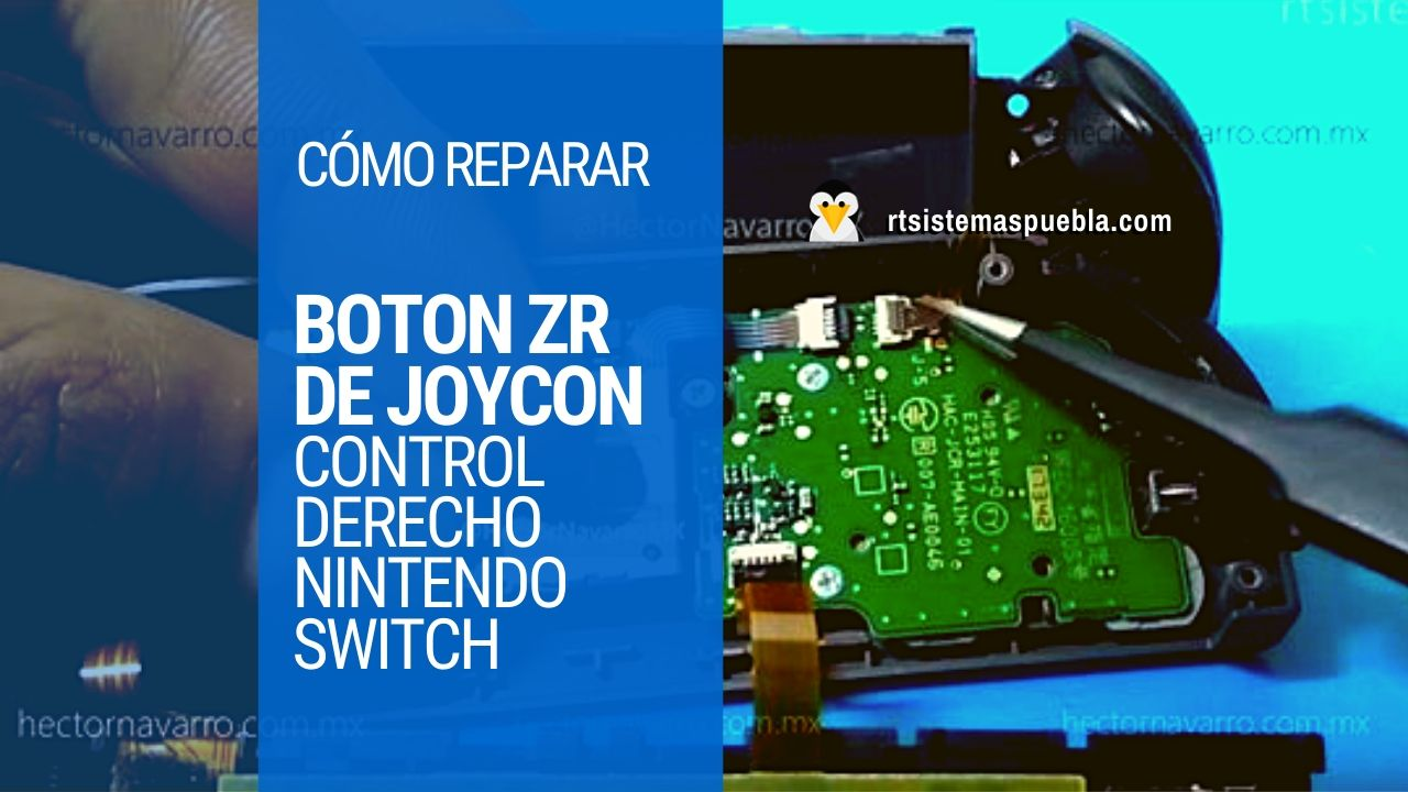 Cómo reparar control derecho de nintendo switch: cambiar boton ZR de JoyCon